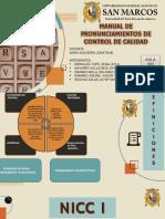 GRUPO 1 MANUAL DE PRONUNCIAMIENTOS DE CONTROL DE CALIDAD