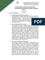 ESPECIFICACIONES TÉCNICAS DEL PROYECTO MEJORAMIENTO EDIFICIO municipal