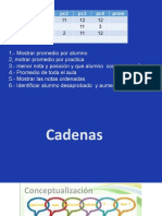 Cadenas 2018 I