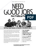 AFL CIO Good Jobs Flyer