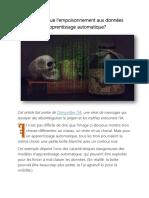 l'empoisonnement aux données d'apprentissage automatique
