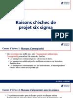 Raisons d'échec de projet six sigma