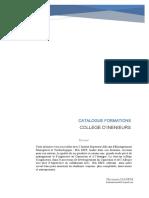 CATALOGUE FORMATION COLLEGE DINGENIEURS ISA EMT