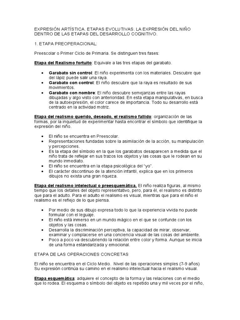 EXPRESIN ARTSTICA ETAPAS EVOLUTIVAS LA EXPRESIN DEL NIO