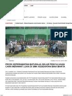 Prodi Keperawatan Baturaja Gelar Penyuluhan Cara Merawat Luka Di SMK Kesehatan Bina Marta