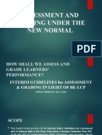 ASSESSMENT AND GRADING UNDER THE NEW NORMAL