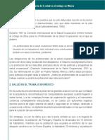 Historia de La Salud en El Trabajo en Mexico