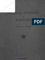 Anuarul Statistic Al României, 1935 Şi 1936
