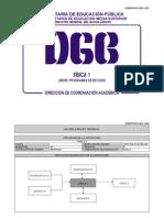 Fisica I (programa SEP DGB Mexico Bachillerato) Reticula 2008