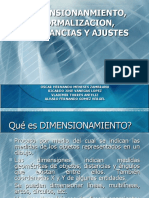 DIMENSIONAMIENTO Y TOLERANCIA