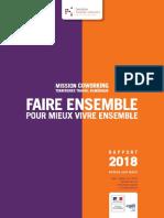 Rapport Mission Coworking - Faire Ensemble Pour Mieux Vivre Ensemble