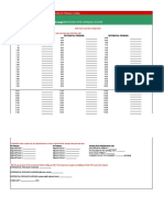 Differential Pressure Test Form and Sample