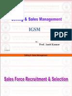 SSM-Lecture-1011 (Sales Force RecruitmentSelection)