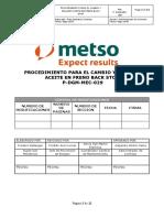 P-DGM-MEC-029 Proc. Cambio y relleno aceite en freno back stop rev 0