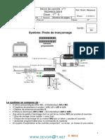 Devoir de contrôle N°1 - Technologie - Poste de tronçonnage - 1ère AS  (2011-2012) Mr Chokri Messaoud