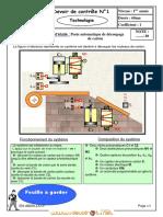 Devoir de Contrôle N°1 - Technologie poste de découpage - 1ère AS  (2011-2012) Mr HENI ABDELLATIF