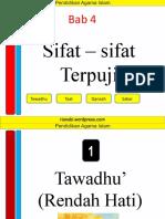 tawadhu-taat-qanaah-sabar