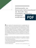 Autonomia na Inserção Internacional do Brasil- Um Caminho Histórico Próprio