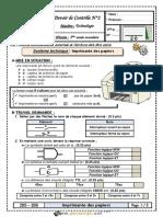 Devoir de Contrôle N°2 - Technologie - Imprimante des papiers - 1ère AS (2015-2016) Mr RAOUAFI.Abdallah