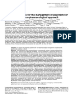 7.14 - Emergências - Brazilian guidelines for the management of psychomotor agitation. Part 1. Non-pharmacological approach