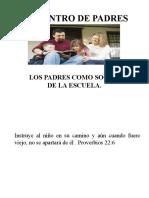 PADRES COMO SOCIOS DE LA ESCUELA