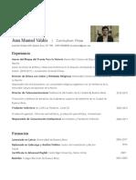 Curriculum Juan Manuel Valdés