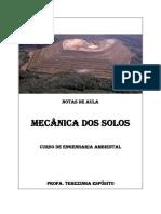 NOTAS DE AULA - ENGENHARIA AMBIENTAL -  MECANICA DOS SOLOS - ESPÓSITO
