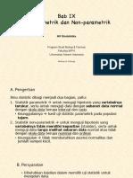 Bab 9 Uji Parametrik dan Non-parametrik (1)