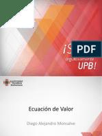 Ecuacion de valor _UPB_2016