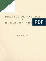 TOMO IV - Puentes de Hormigón Armado. Obras Especiales