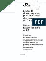 Conseil des science - Étude-spéciale-no.-22-Société-multinationalesinvestissement-direct...