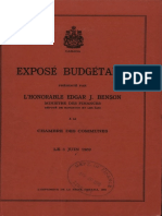 Exposé Budgétaire 1969