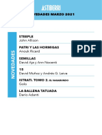 Novedades Astiberri Marzo 2021