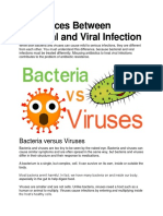 Differences Between Bacterial and Viral Infection
