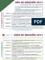 Guía Oración 2011 Marzo