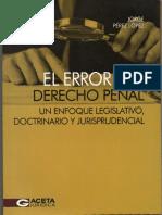 El Error en El Derecho Penal.
