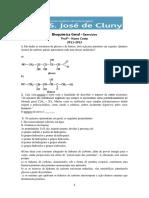 Bioqumica Geral - Exerccios - 2011-2012