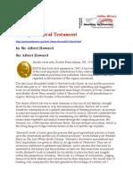 An Agricultural Testament Eduard Howard