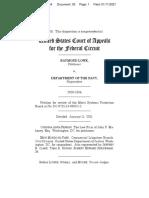 Lowe v. Navy 2020-1564