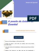 Contextualização Histórico-literária - Antero de Quental