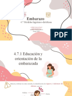 4.7 Medidas higiénico-dietéticas EMBARAZO