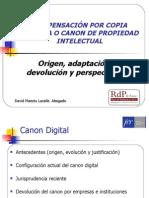Presentación sobre el canon digital en la FER
