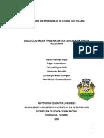 UNIDADES  DE APRENDIZAJE DE LENGUA CASTELLANA.primaria