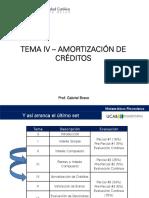 Tema IV - Amortización de Créditos (202115)