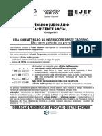 PROVA OBJETIVA - 301 - ASSISTENTE SOCIALl