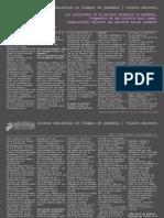 ENTREVISTAS REVISTA 2020. Las Vicisitudes de Un Proceso Formativo en Pandemia.