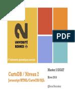 CartoDB Niveau 2 Webmapping Javascript S