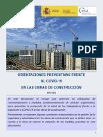 Orientaciones Frente Covid-19 Obras Construccion V1 20200409