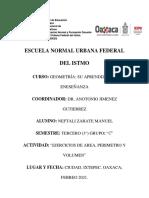 Ejercicios de Geometria - Area, Perimetro y Volumen
