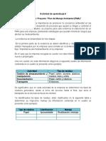 Actividad de Aprendizaje Evidencia 6 Proyecto Plan de Manejo Ambiental PMA .Docx